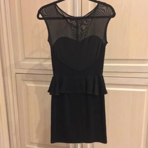 Dresses - Black Peplum Tight Dress